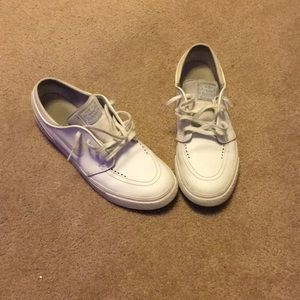 All white leather janoskis